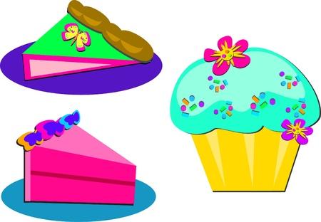 Mix of Dessert Cakes