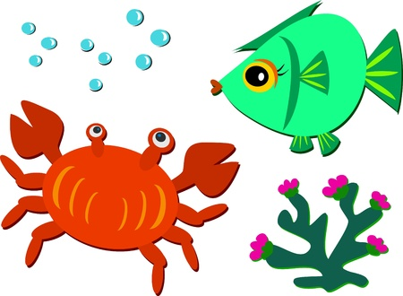 Mix of Sea Life Stock Vector - 12369306