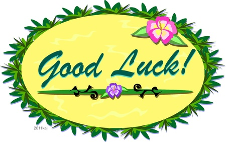 Tropical Good Luck Sign Vector