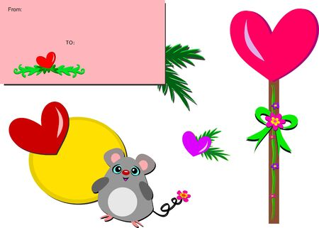 Mix of Heart Felt Pictures Ilustracja