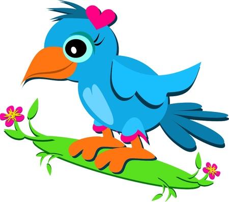 Blue Parrot avec un coeur