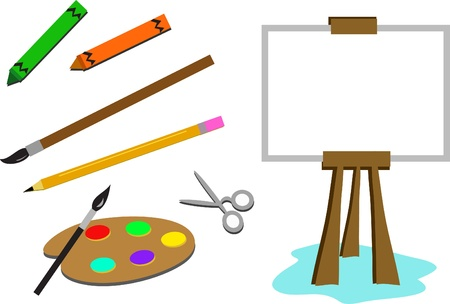 creative tools: Mix di strumenti creativi Vettoriali