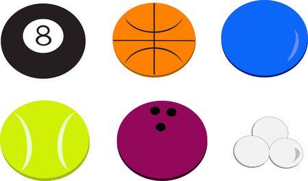 Mix of Sports Balls