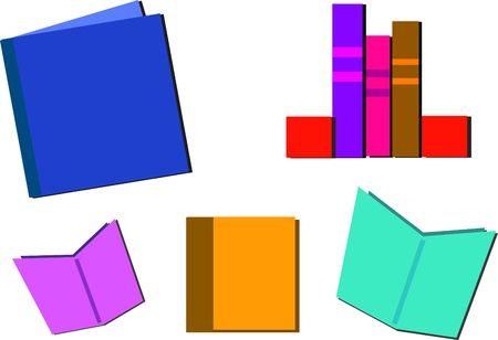 compile: Mix of Books to Read and Study Illustration