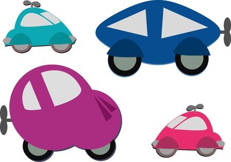 Mix of Cute Wind Up Cars Banco de Imagens - 14258703