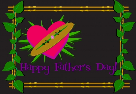 Happy Father�s Day Framed Greeting Vector
