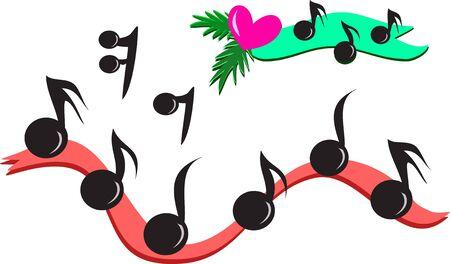 Mix of Musical Notes Ilustração