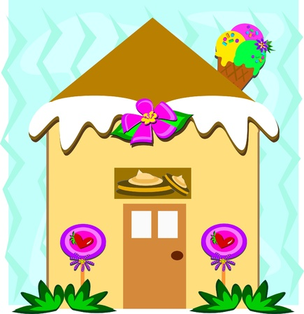 Candy Gingerbread House Stock Vector - 19722245