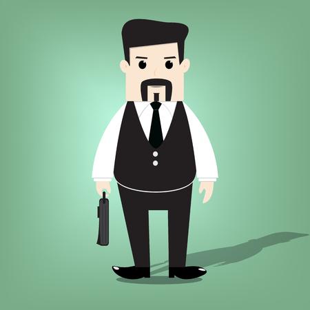 headman: Business man vector illustration.