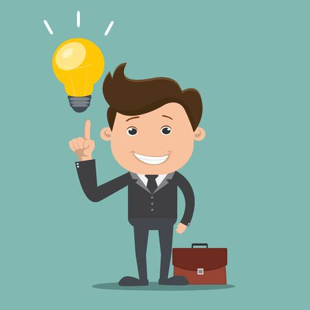 Businessman get the idea , Business concept - vector illustration