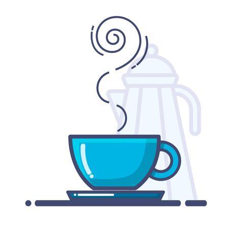 Cup of coffee icon , Coffee icons - Vector line icons.  Ilustração