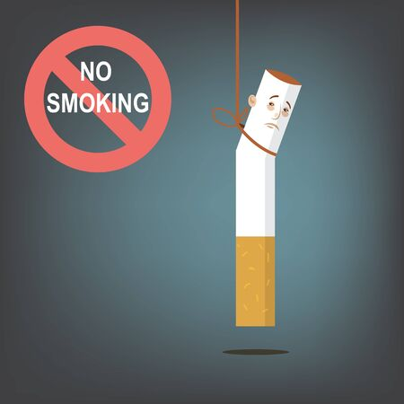 No Smoking. Vector cartoon illustration