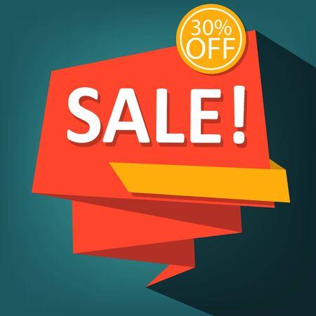 Sale background. 30% off. Vector illustration. 일러스트