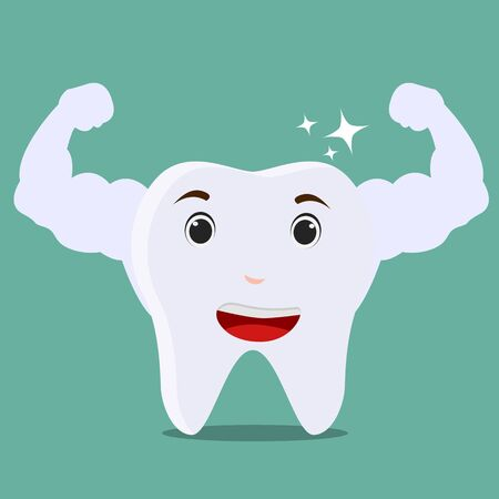 Healthy tooth. Vector illustration.