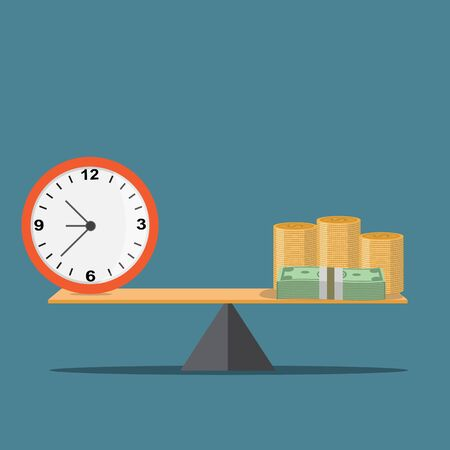 Time and Money  - vector illustration