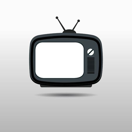 Retro TV - vector illustration Illusztráció