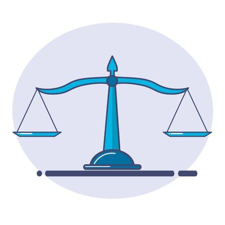 justice scale icon. scale icon. vector illustrator.