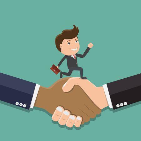 Shaking hands business vector illustration Vector Illustratie