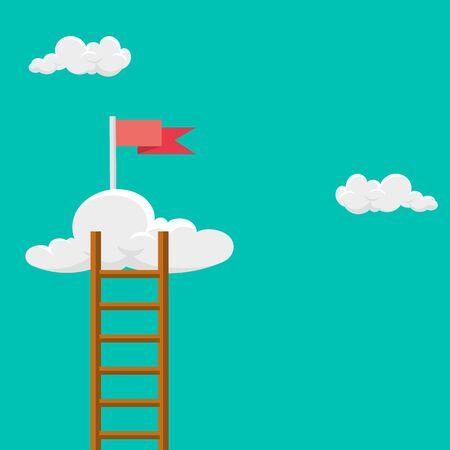 Keep moving forward.Vector illustration.  Ilustrace