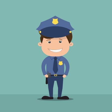 Policeman - vector illustration