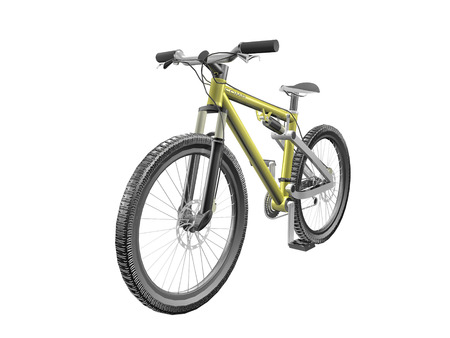 3D Mountain bike isolated