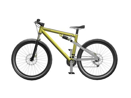3D mountain bike Banco de Imagens