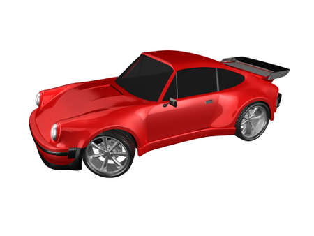 3D red sports car isolated Imagens