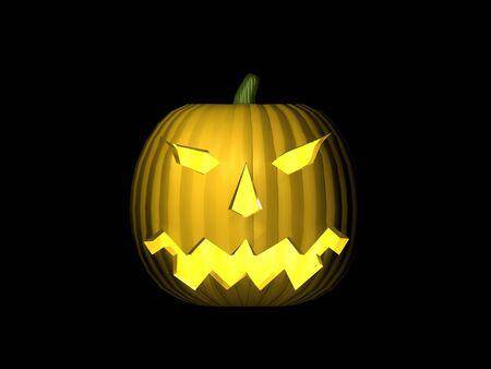 3D Lit Pumpkin