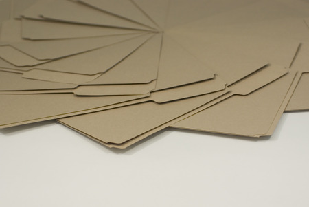 Brown file folders in design on white