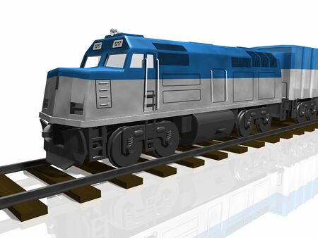 3D Train Stock Photo