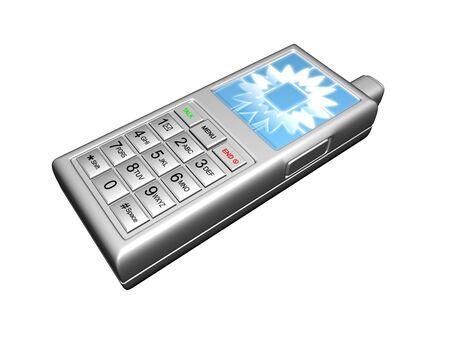 3D GSM zilver Stockfoto