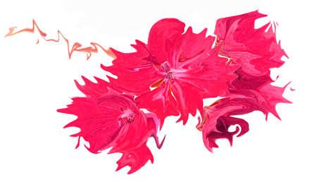 抽象的なピンクの花イラスト