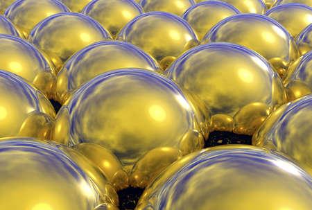 3 Dimensional reflective golden spheres