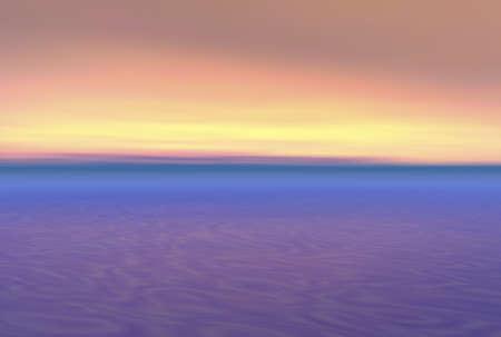 Beautiful ocean sunet illustration in 3d render