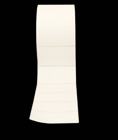 Large roll of white address labels