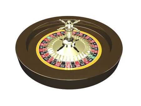 3D Roulette wheel isolated on white background photo