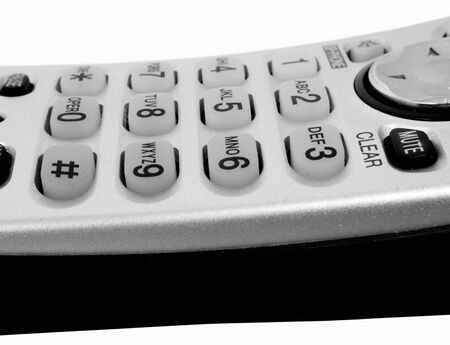 Isolated on white background touch pad on telephone Stock fotó