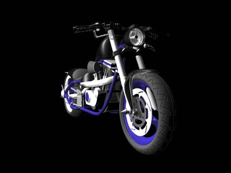3d motorcycle on black background 1 Stock Photo - 1999437