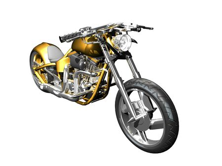 3D Motorcycle front side view isolated Stock Photo - 2005766