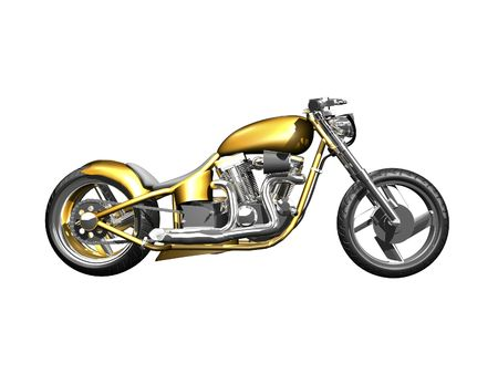 3D Motorcycle side view on white isolated Stock Photo - 2005764