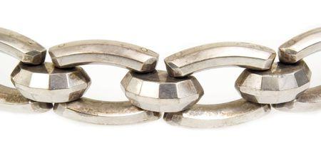 restraints: Macro of silver metal chain link