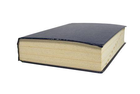 격리 된 흰색 배경에 큰 두꺼운 책 스톡 콘텐츠