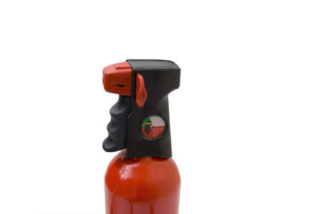 Fire Extinguisher with pin on white