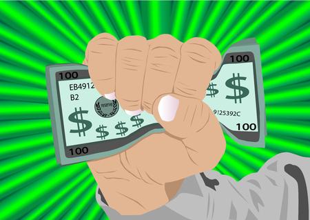 Fist full of cash vector