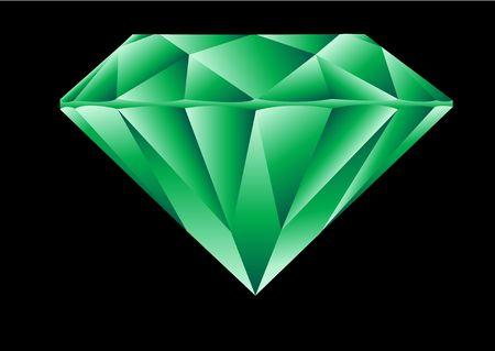 Diamond cut emerald illustration