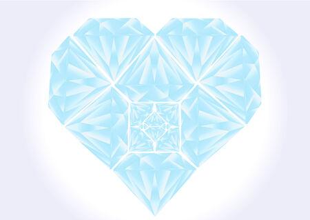 blue diamond heart