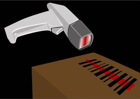 Bar Code Scanner illustration Stock Illustration - 2539551