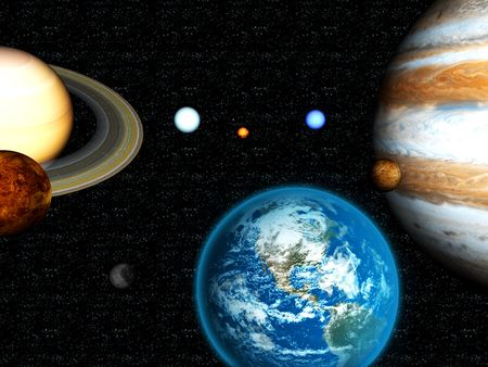 3D Solar System Stock Photo - 2561830