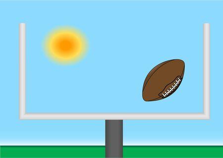 Football through goal post illustration Stock Illustration - 2595588