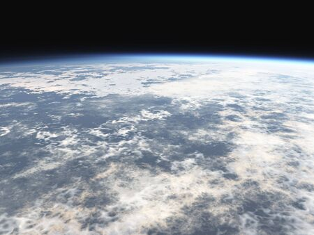 atmosphere: world atmosphere 3d with clouds